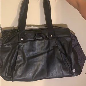 Lululemon Leather Duffle bag